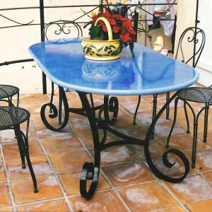 table ferronerie six fours ingargiola plateau lave fer gorgée