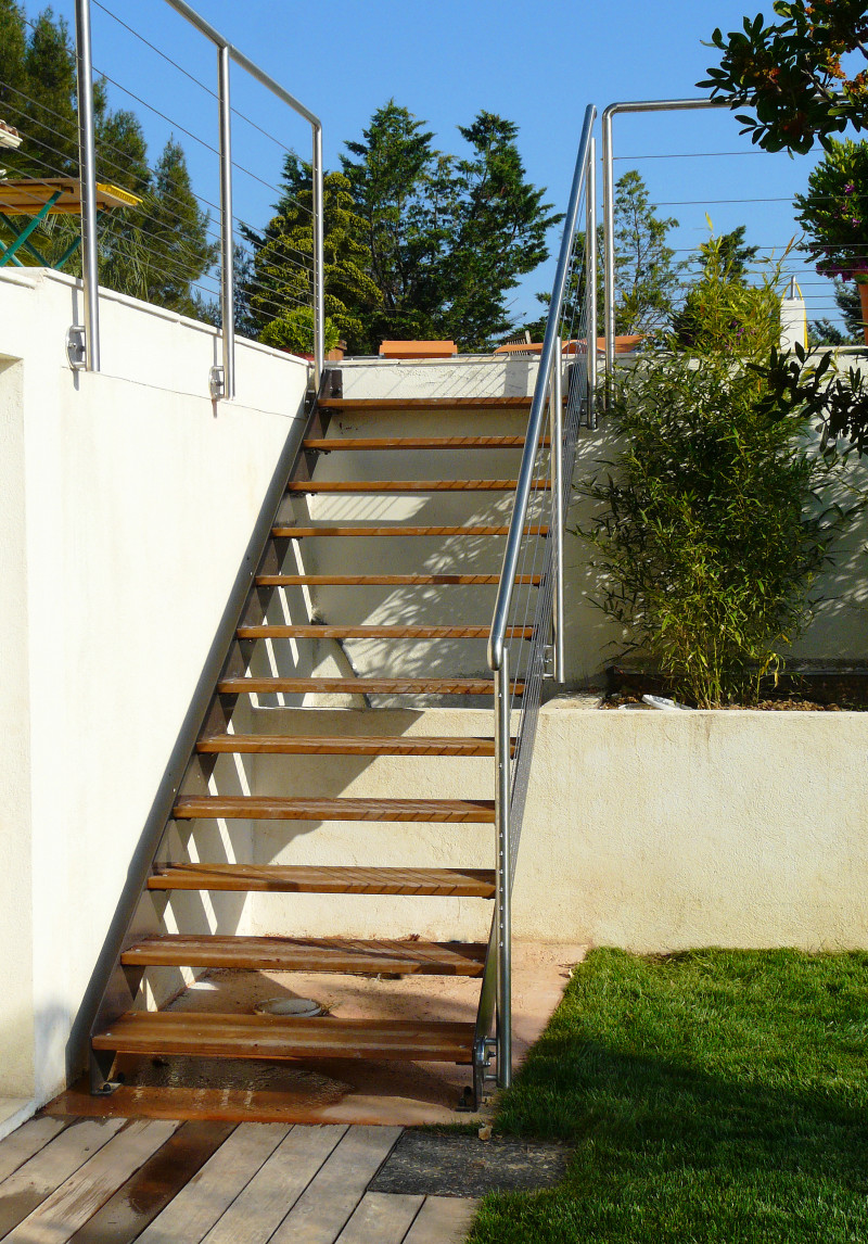escalier exterieur piscine ferronnerie ingargiola six fours var